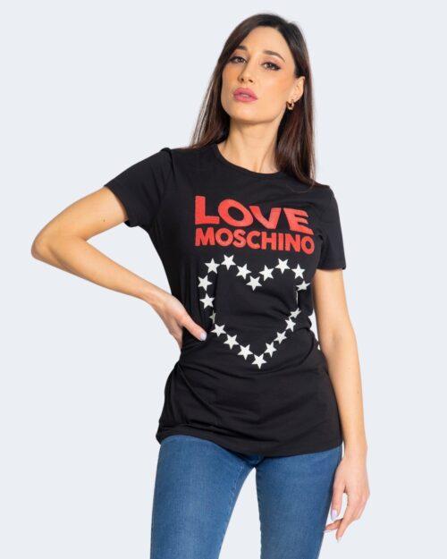 T-shirt Love Moschino CUORE A STELLE Nero – 68905