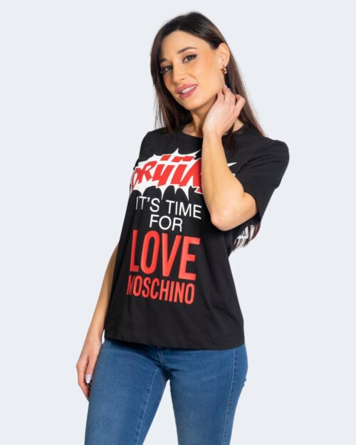 T-shirt Love Moschino IT'S TIME FOR LOVE Nero – 68893