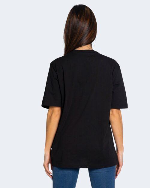 T-shirt Love Moschino STAMPA LOGO RILIEVO Nero – 68907