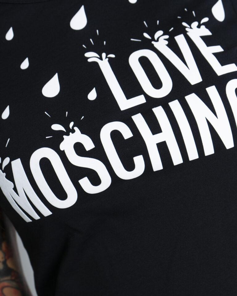 T-shirt Love Moschino SPLASH Nero - Foto 2