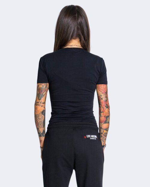 T-shirt Love Moschino WHITE BLACK AND RED Nero – 66283