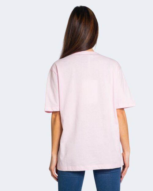 T-shirt Love Moschino STAMPA LOGO RILIEVO Rosa – 68907