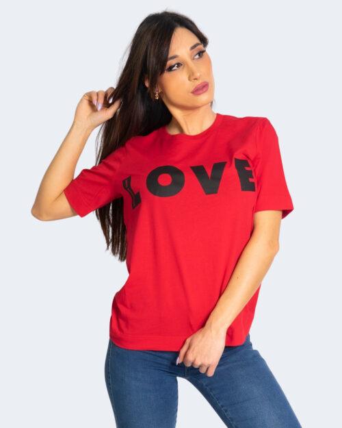 T-shirt Love Moschino LOGO GRANDE Rosso – 56143
