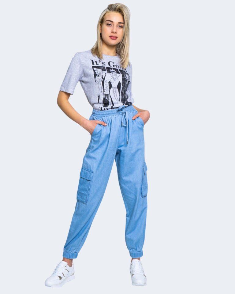 T-shirt Jacqueline de Yong DARLINGTON Grigio Chiaro - Foto 2