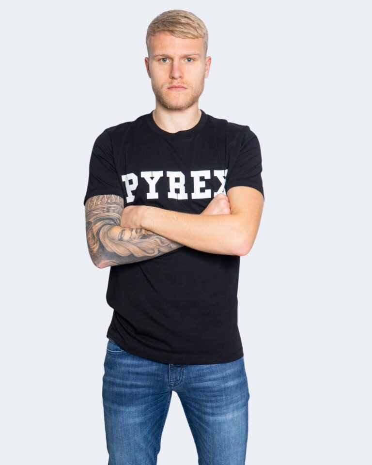 T-shirt Pyrex MAGLIA UNISEX JERSEY Nero - Foto 1
