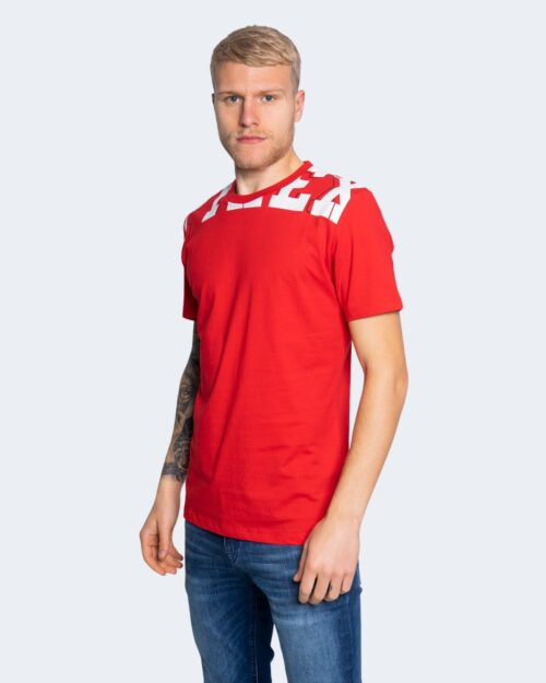 T-shirt Pyrex STAMPA LOGO COLLO Rosso – 64172