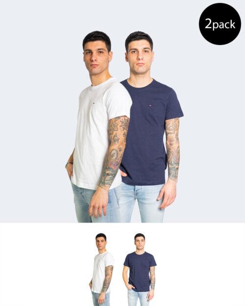 T-shirt Tommy Hilfiger Jeans 2PACK CNECK Bianco - Foto 1