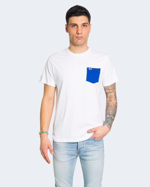 T-shirt Tommy Hilfiger Jeans CONTRAST POCKET Bianco - Foto 2