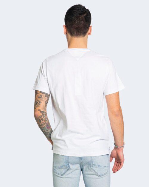 T-shirt Tommy Hilfiger Jeans CONTRAST POCKET Bianco - Foto 3