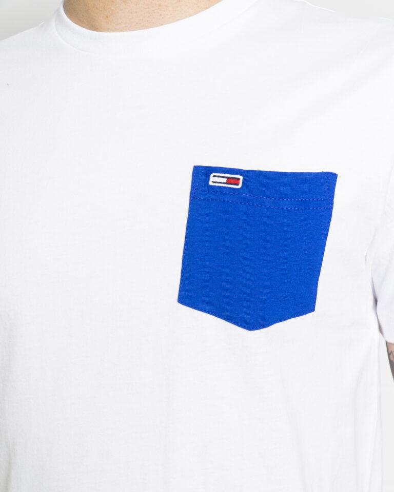 T-shirt Tommy Hilfiger Jeans CONTRAST POCKET Bianco - Foto 4