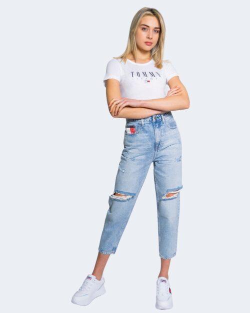 T-shirt Tommy Hilfiger Jeans ESSENTIAL SKINNY Bianco - Foto 2