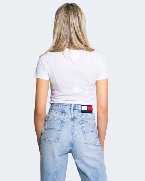 T-shirt Tommy Hilfiger Jeans ESSENTIAL SKINNY Bianco - Foto 3