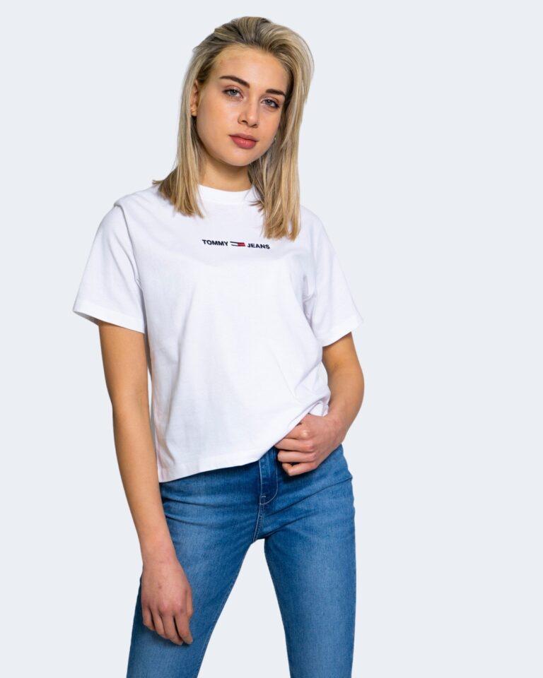 T-shirt Tommy Hilfiger Jeans LINEAR LOGO Bianco - Foto 1