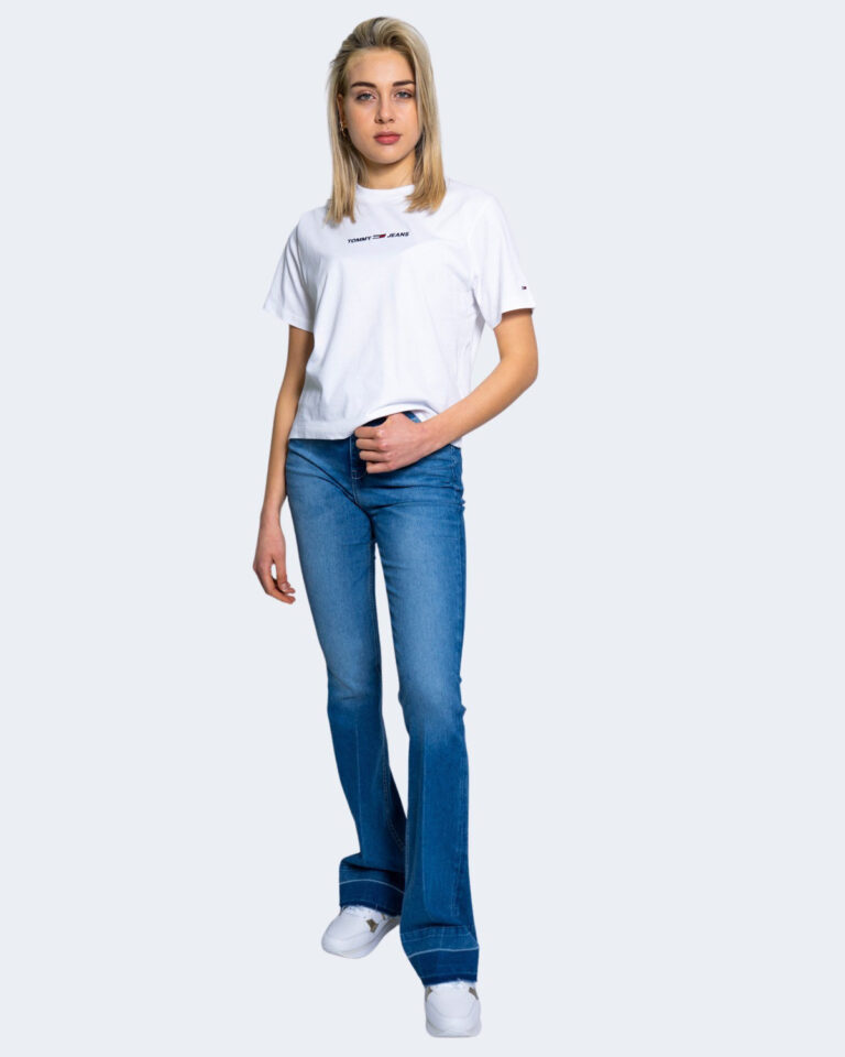 T-shirt Tommy Hilfiger Jeans LINEAR LOGO Bianco - Foto 2