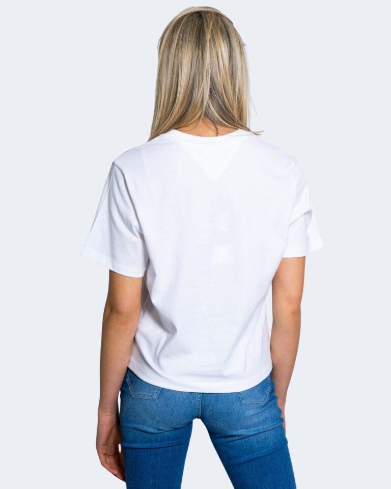 T-shirt Tommy Hilfiger Jeans LINEAR LOGO Bianco - Foto 3