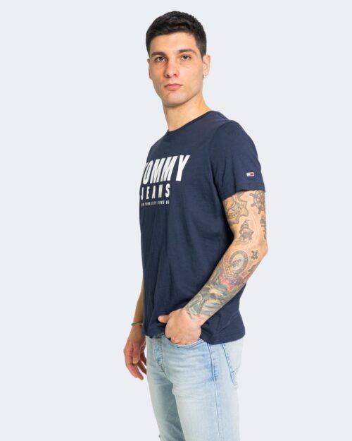 T-shirt Tommy Hilfiger Jeans CENTER CHEST Blu - Foto 1