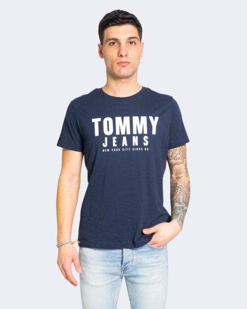 T-shirt Tommy Hilfiger Jeans CENTER CHEST Blu - Foto 2