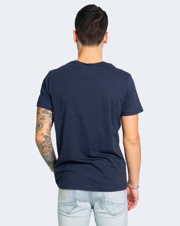 T-shirt Tommy Hilfiger Jeans CENTER CHEST Blu - Foto 3