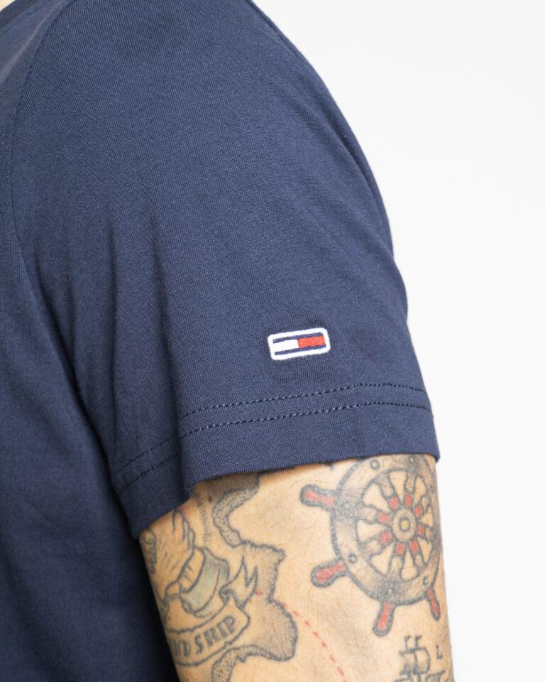 T-shirt Tommy Hilfiger Jeans CENTER CHEST Blu - Foto 4