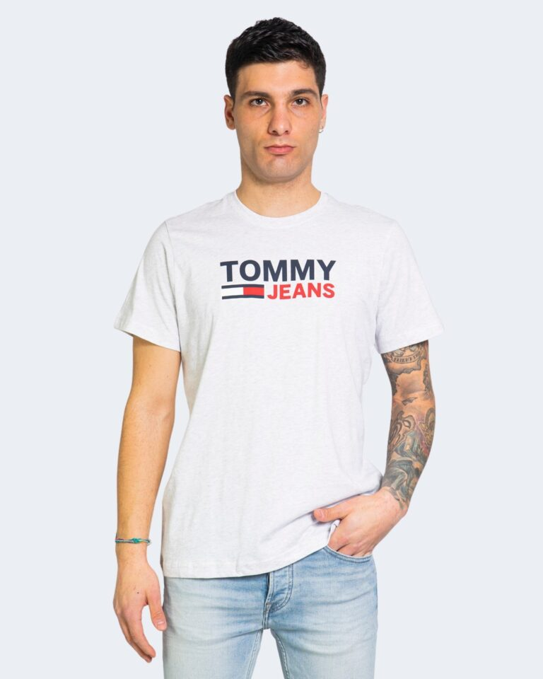 T-shirt Tommy Hilfiger Jeans LOGO Grigio - Foto 1
