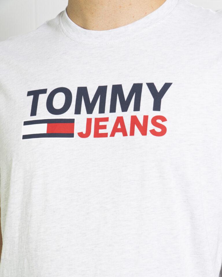 T-shirt Tommy Hilfiger Jeans LOGO Grigio - Foto 4
