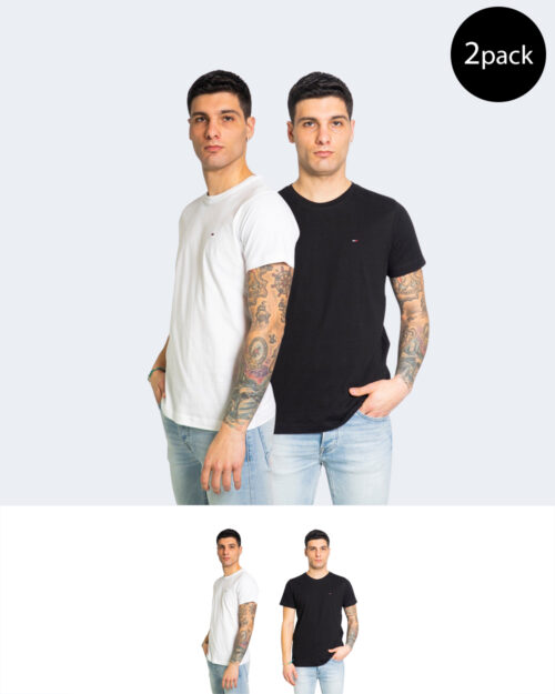 T-shirt Tommy Hilfiger Jeans 2PACK CNECK Nero - Foto 1