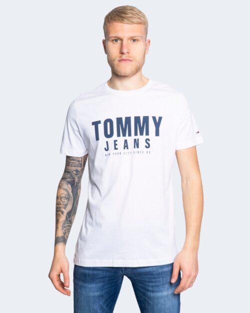 T-shirt Tommy Hilfiger Jeans CENTER CHEST Bianco - Foto 1