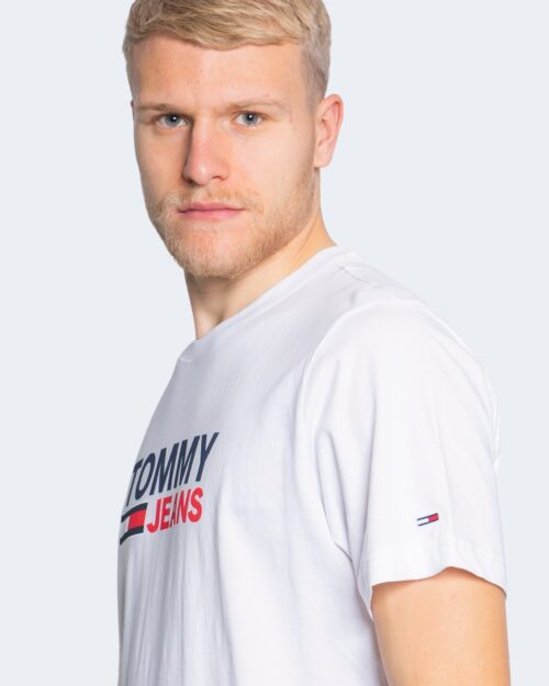 T-shirt Tommy Hilfiger Jeans LOGO Bianco - Foto 2
