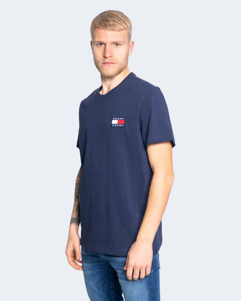 T-shirt Tommy Hilfiger Jeans Badge Blu - Foto 4