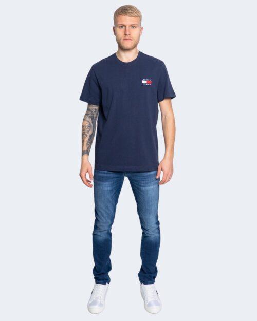 T-shirt Tommy Hilfiger Jeans Badge Blu - Foto 3