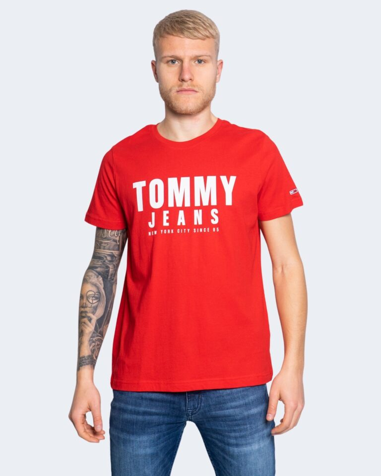 T-shirt Tommy Hilfiger Jeans CENTER CHEST Rosso - Foto 1