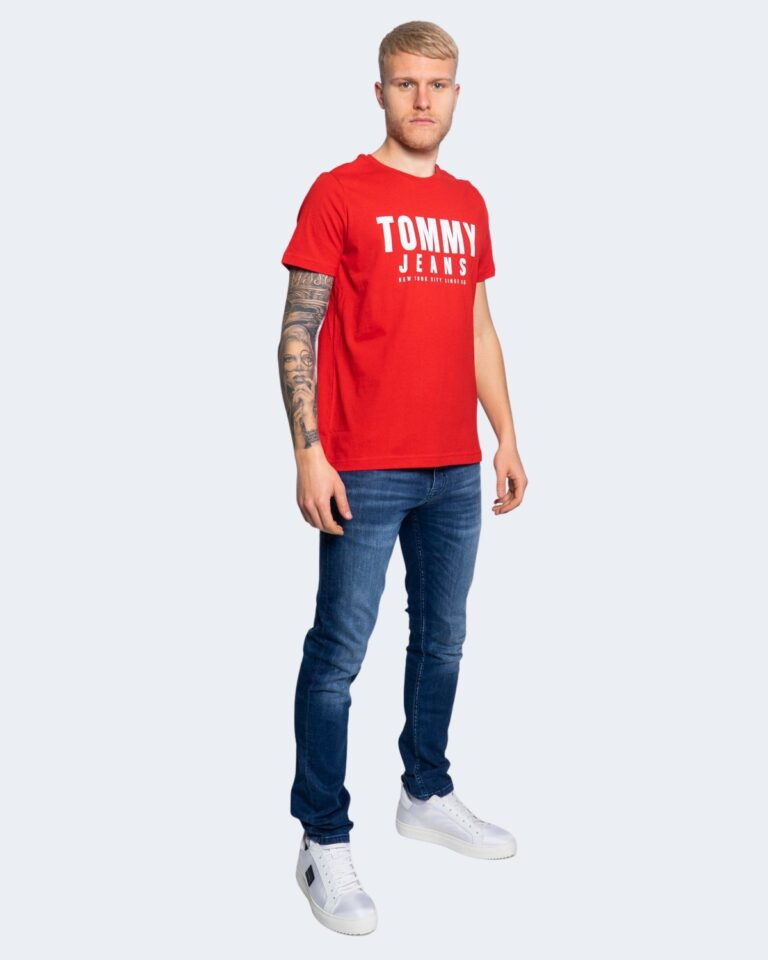 T-shirt Tommy Hilfiger Jeans CENTER CHEST Rosso - Foto 2