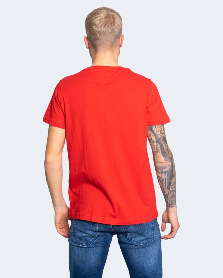 T-shirt Tommy Hilfiger Jeans CENTER CHEST Rosso - Foto 4