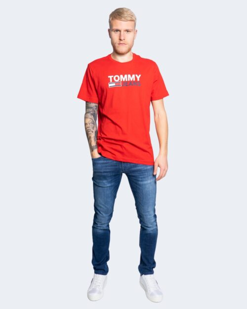 T-shirt Tommy Hilfiger Jeans LOGO Rosso - Foto 2