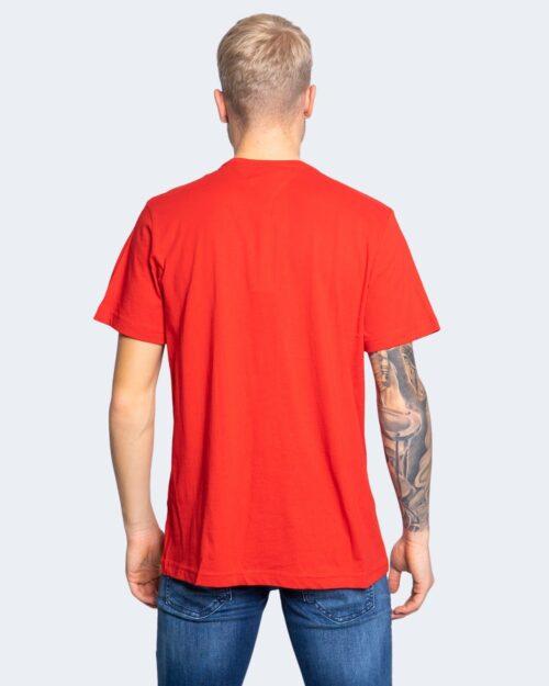 T-shirt Tommy Hilfiger Jeans LOGO Rosso - Foto 4