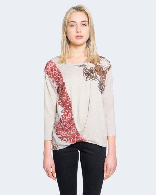 T-shirt manica lunga Desigual OPORTO Beige – 65482