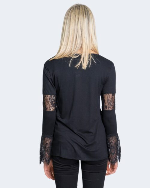 T-shirt manica lunga Desigual Ts amelia Nero - Foto 3