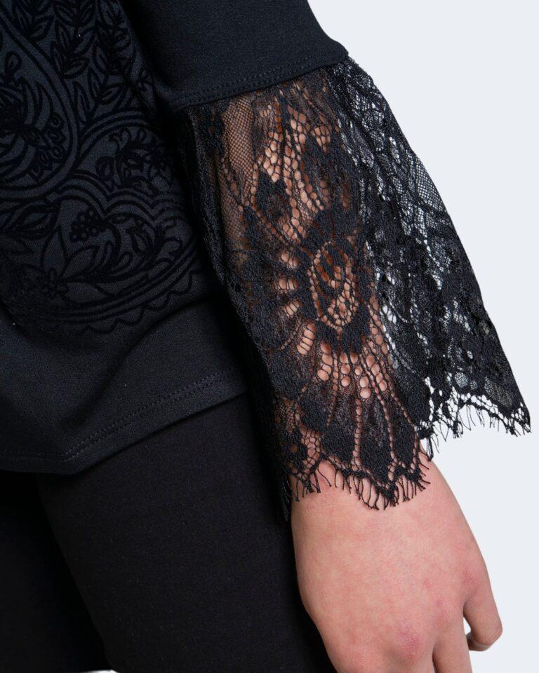 T-shirt manica lunga Desigual Ts amelia Nero - Foto 4