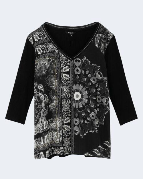 T-shirt manica lunga Desigual VARSOVIA Nero – 65481