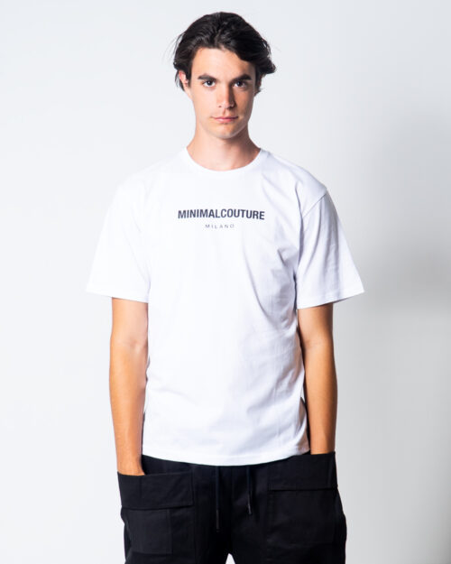 T-shirt Minimal SCRITTA LOGO PICCOLA Bianco – 45562