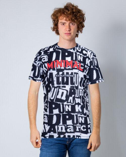 T-shirt Minimal STAMPA ALL OVER MINIMAL Bianco – 44168