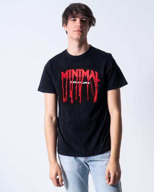 T-shirt Minimal SCRITTA LOGO FILI Nero – 44163