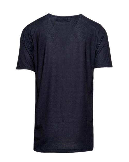 T-shirt Minimal STAMPA LOGO E AQUILA Nero – 44155