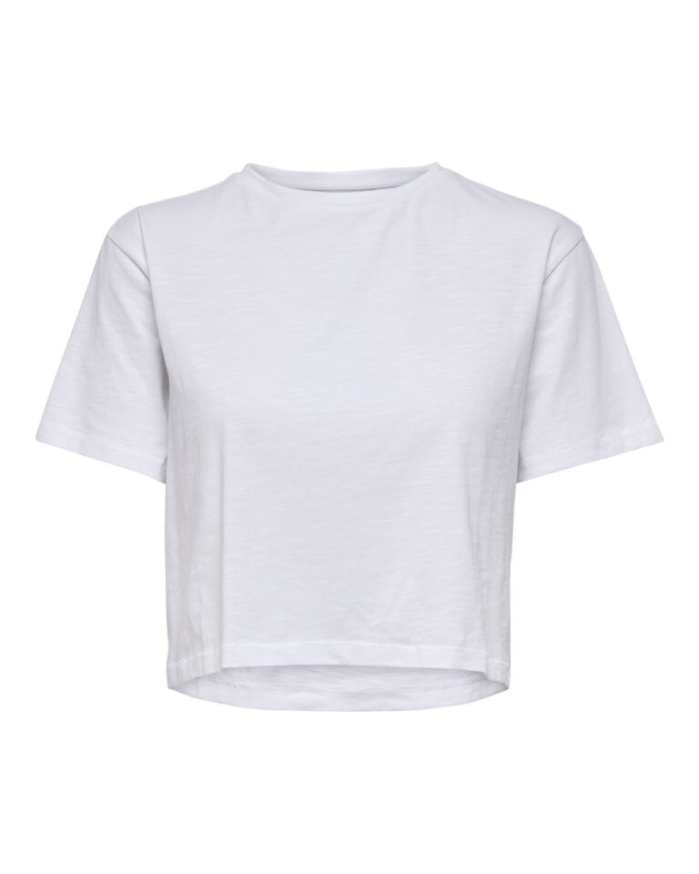 T-shirt Only MADRID LIFE CROPPED DNM TEE DBL Bianco - Foto 1