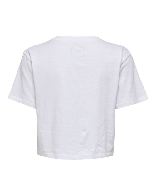 T-shirt Only MADRID LIFE CROPPED DNM TEE DBL Bianco - Foto 2