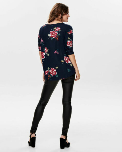 Maglione Only ELCOS 4/5 AOP TOP JRS NOOS FLOWER Blue scuro – 61453