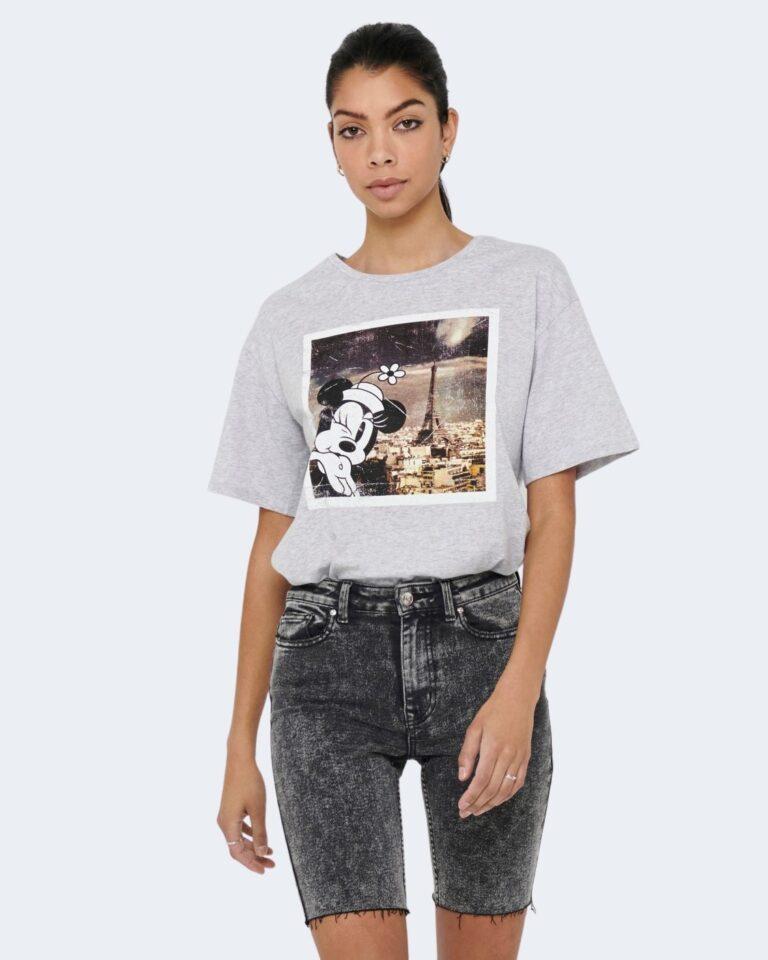 T-shirt Jacqueline de Yong SEOUL Grigio Chiaro - Foto 1