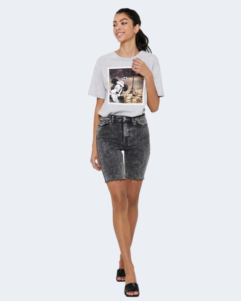 T-shirt Jacqueline de Yong SEOUL Grigio Chiaro - Foto 2
