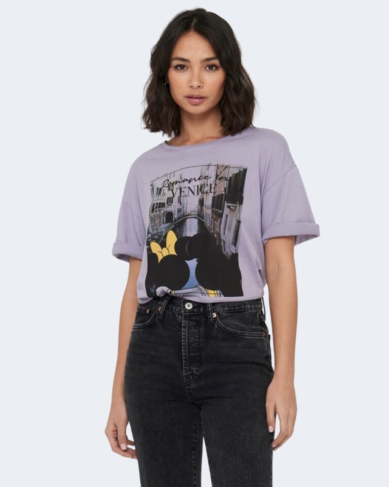 T-shirt Jacqueline de Yong SEOUL Lilla - Foto 1
