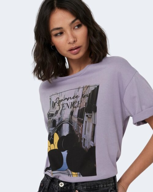 T-shirt Jacqueline de Yong SEOUL Lilla - Foto 3